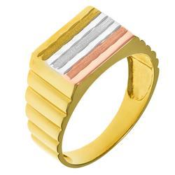 5b05732e782 Anel Masculino com detalhe central em ouro três cores