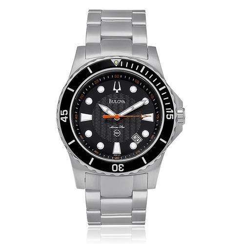 38cdfb298a8 Relógio Masculino Bulova Marine Star Analógico WB31023T Aço com fundo preto