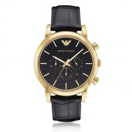 ee6a04dfb92 Relógio Masculino Emporio Armani Analógico AR1917 0PN Couro Preto