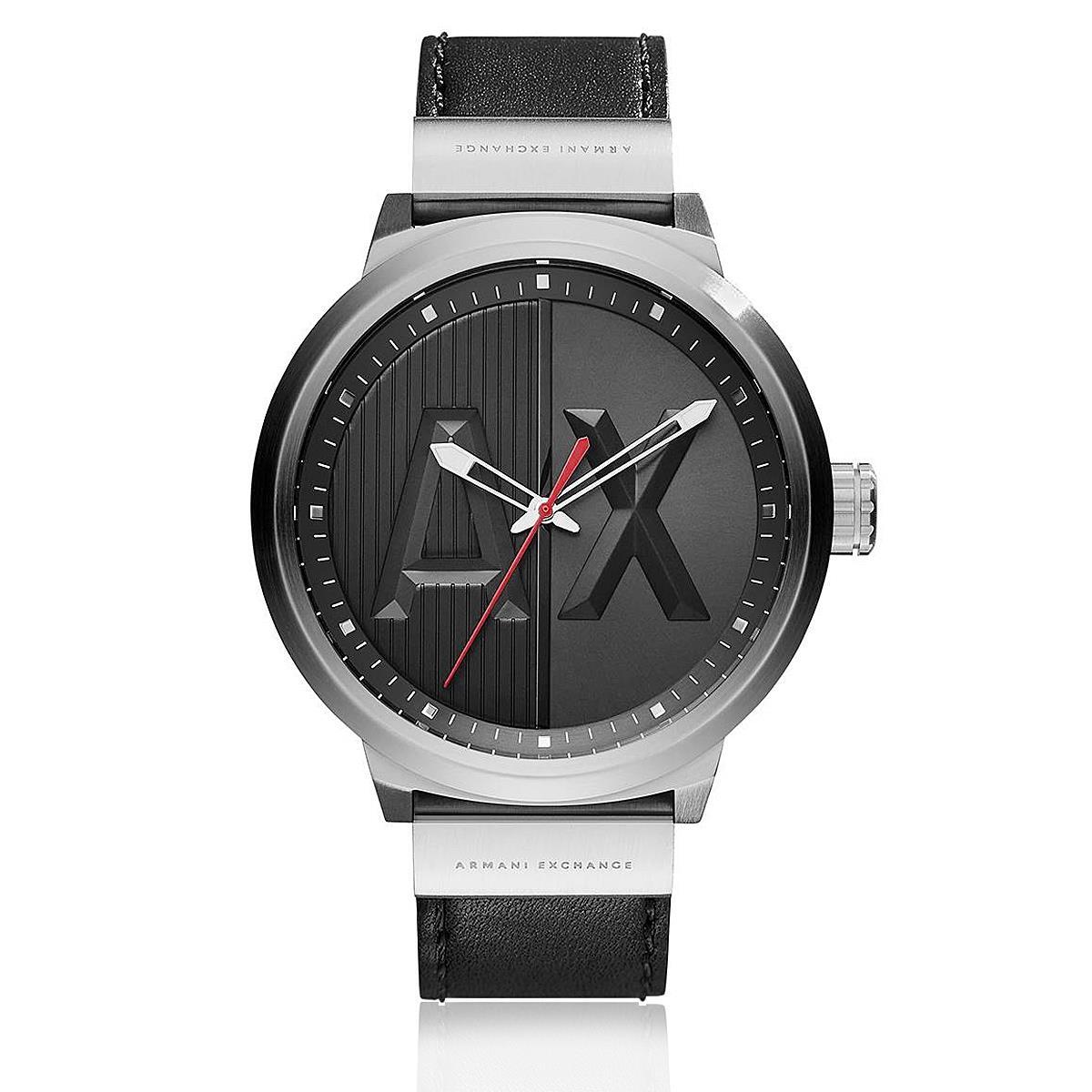 83a9ef9957ab7 Relógio Masculino Armani Exchange Analógico AX1361 0PN Couro Preto