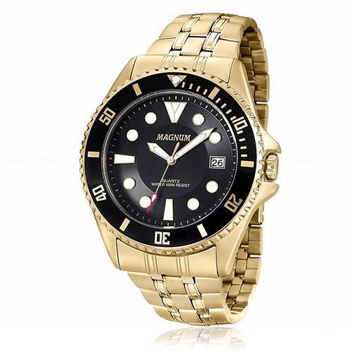 Relógio Masculino Magnum Analógico MA32872U Dourado
