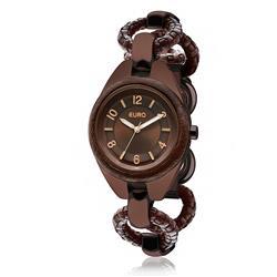 1f2efe79390 Relógio Feminino Euro Analógico EU2035LQG 3M Aço Marrom