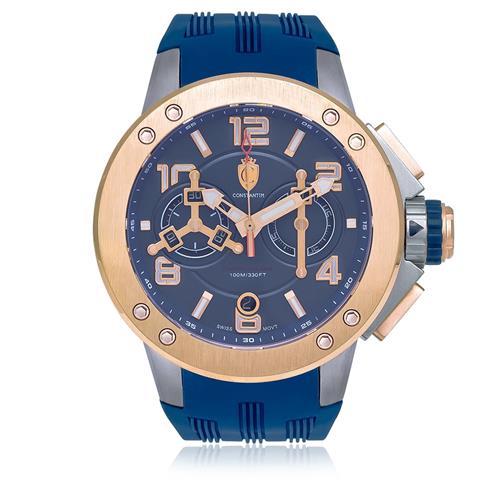 6d2145ee0d3 Relógio Constantim Military TK Machine Blue ZW30063A Borracha Azul