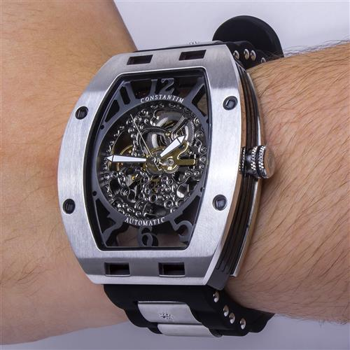 822ffc11cd5 Relógio Masculino Constantim Full Skeleton ZW30303P-S Special Edition  Automatic Silver. 12% OFF