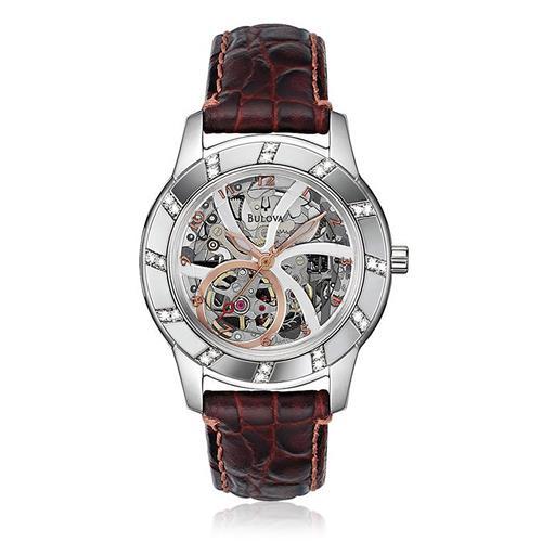 32a94310472 Relógio Bulova Masculino Analógico WB38151B Automático Marrom