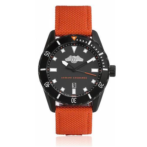 Relógio Masculino Armani Exchange Analógico AX1705/8LN Nylon Laranja