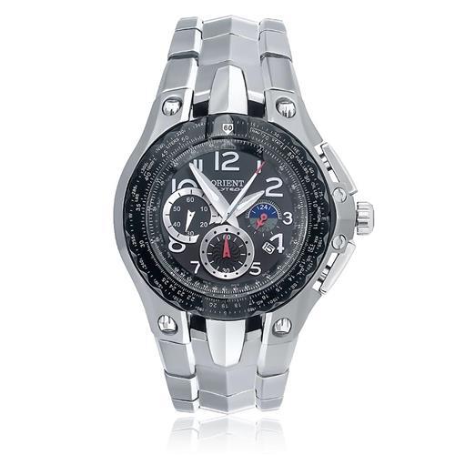 bf81a4ff5b5 Relógio Masculino Orient Flytech Analógico MBTTC002 P2GX Titânio