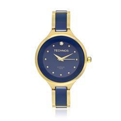 Relógio Feminino Technos Elegance 2035LYV/4A Dourado e Azul