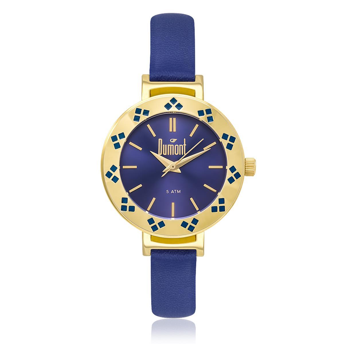 64c9dd2c082 Relógio Feminino Dumont Analógico DU2035L0A 4A Kit Troca Pulseira