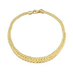 Pulseira Malha Serpente, em Ouro Amarelo