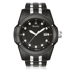 1b8d3fcd29f Relógio Masculino Bulova Analógico WB21749P Aço Negr.