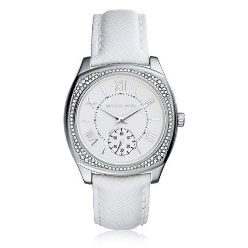 Relógio Feminino Michael Kors Analógico MK2385/0BI Couro Branco