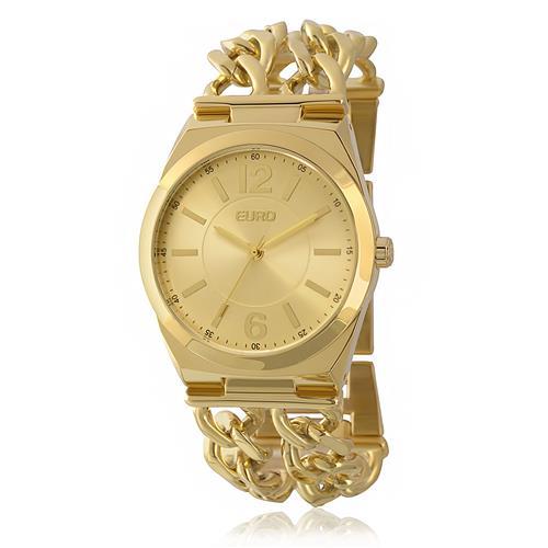 afff01fd6ba Relógio Feminino Euro Analógico EU2035XZS 4D Dourado