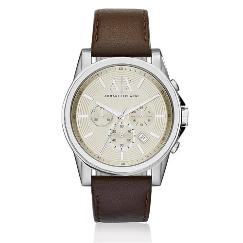 c9f281e7b79 Relógio Masculino Armani Exchange Chronograph Analógico AX2506 0KN Couro  Marrom