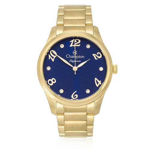 1905101e08c Relógio Feminino Champion Elegance Analógico CN26108A Dourado