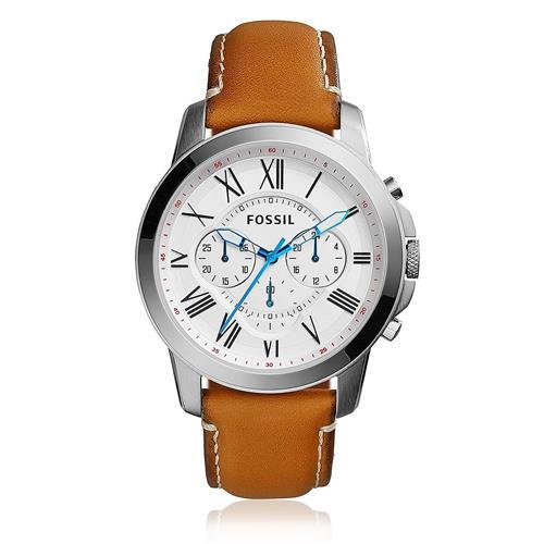 Relógio Masculino Fossil Chronograph FS5060/0KN Couro Marrom