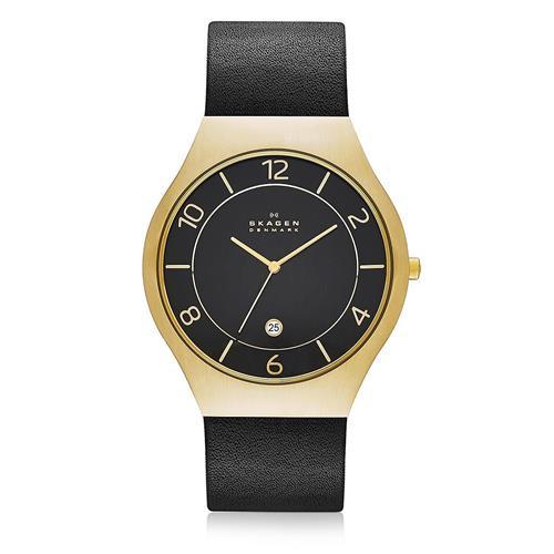 Relógio Masculino Skagen SKW6145/Z Couro Preto