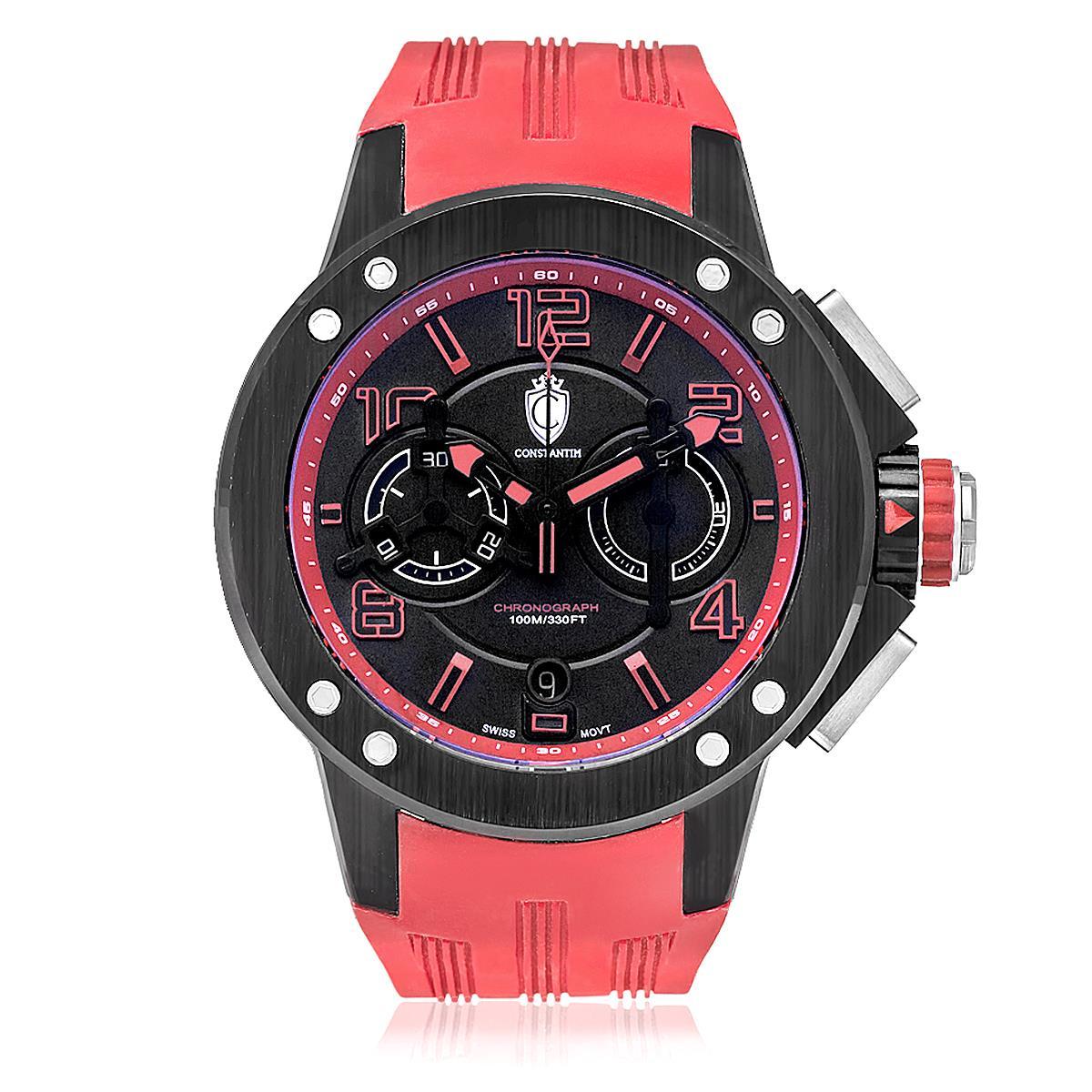 1e78c78b59f Relógio Masculino Constantim Chronograph Red ZW30063V Vermelho