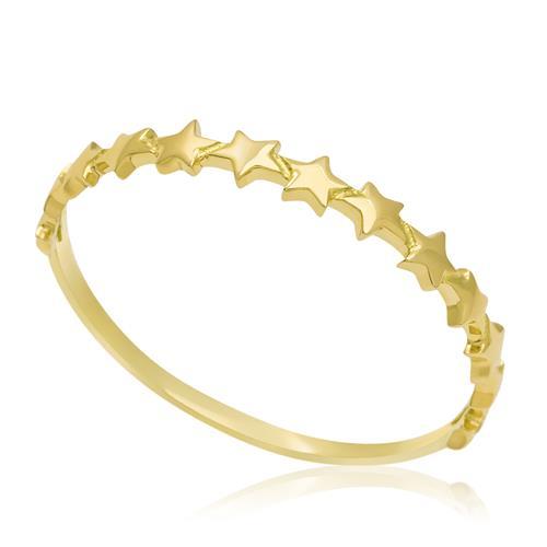 Anel com Estrelas em Ouro Amarelo