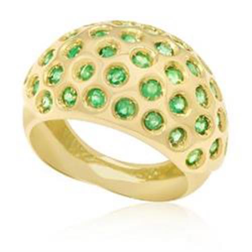 Anel com 39 Esmeraldas,em Ouro Amarelo