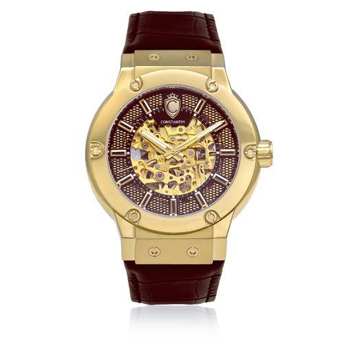 984d5af8d10 Relógio Masculino Constantim Skeleton ZW30115X Gold Brown