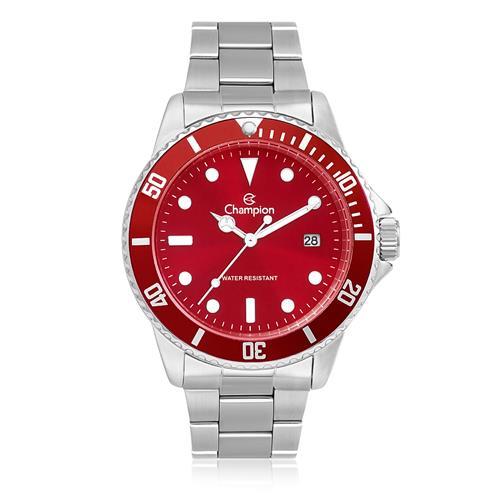 Relógio Masculino Champion Analógico CA31266V Fundo Vermelho