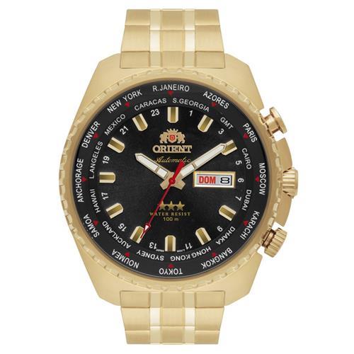 da231210fcf Relógio Masculino Orient GMT Automatic 469GP057 P1KX Fundo Preto