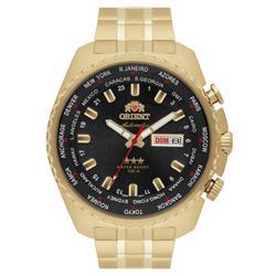 Relógio Masculino Orient GMT Automatic 469GP057 P1KX Fundo Preto
