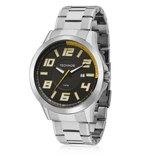 Relógio Masculino Technos Performance Racer Analógico 2115KNE 1Y em aço a7a6794928