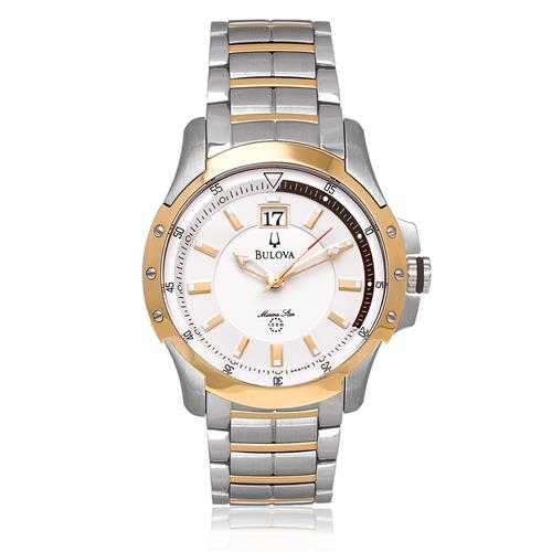 Relógio Masculino Bulova Marine Star Sport WB31630Z Aço Misto
