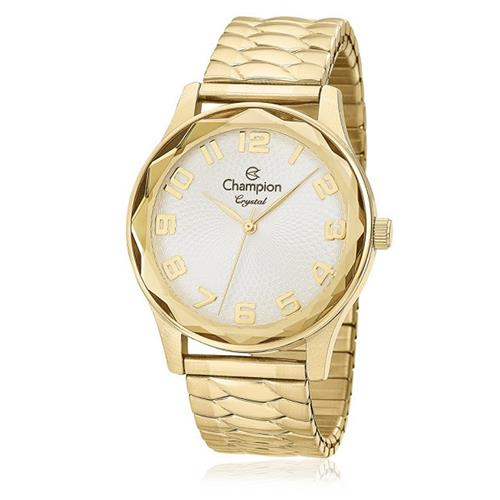 Relógio Feminino Champion Crystal Analógico CN27885H Dourado