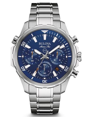 2a0bcfc8af9 Relógio Masculino Bulova Marine Star Analógico WB31934F Aço com fundo Azul