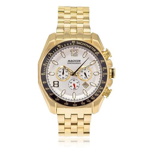 f7a4185b417 Relógio Masculino Magnum Chronograph Analógico MA32167H Dourado