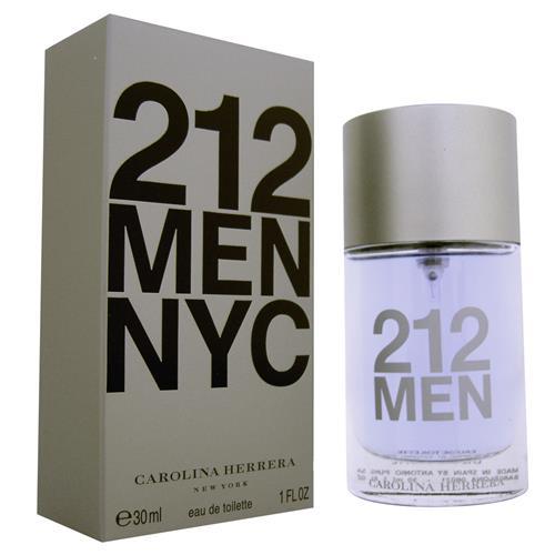 8027d923f Perfume Masculino Carolina Herrera 212 MEN NYC - 30 ml