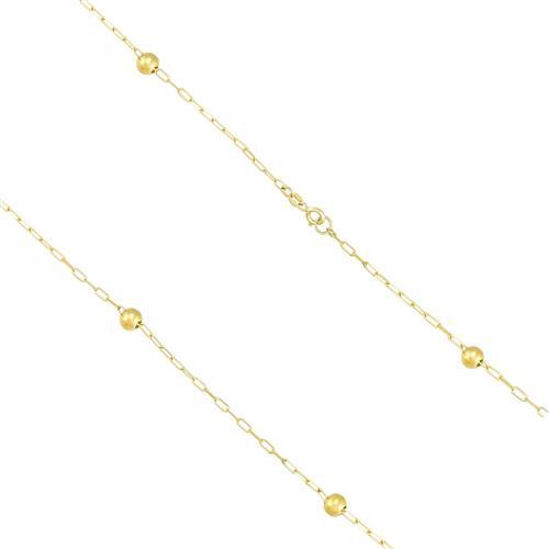 Corrente Feminina Elos Cartier com Esferas em Ouro Amarelo