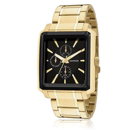 Relógio Masculino Technos Classic GrandTech Analógico 6P27CZ 4P em aço com  calendário 11731fce87