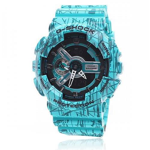 3907321c48a Relógio Masculino G-Shock Analógico GA110SL3ADR Azul