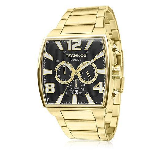 6f053665f23fc Relógio Masculino Technos Legacy Analógico JS25AR 1D Dourado