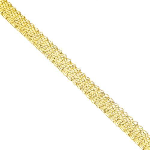 Pulseira Malha Fios Entrelaçados em Ouro Amarelo