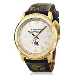 Relógio Masculino Yankee Street Black Angels Analógico YS30443B Couro