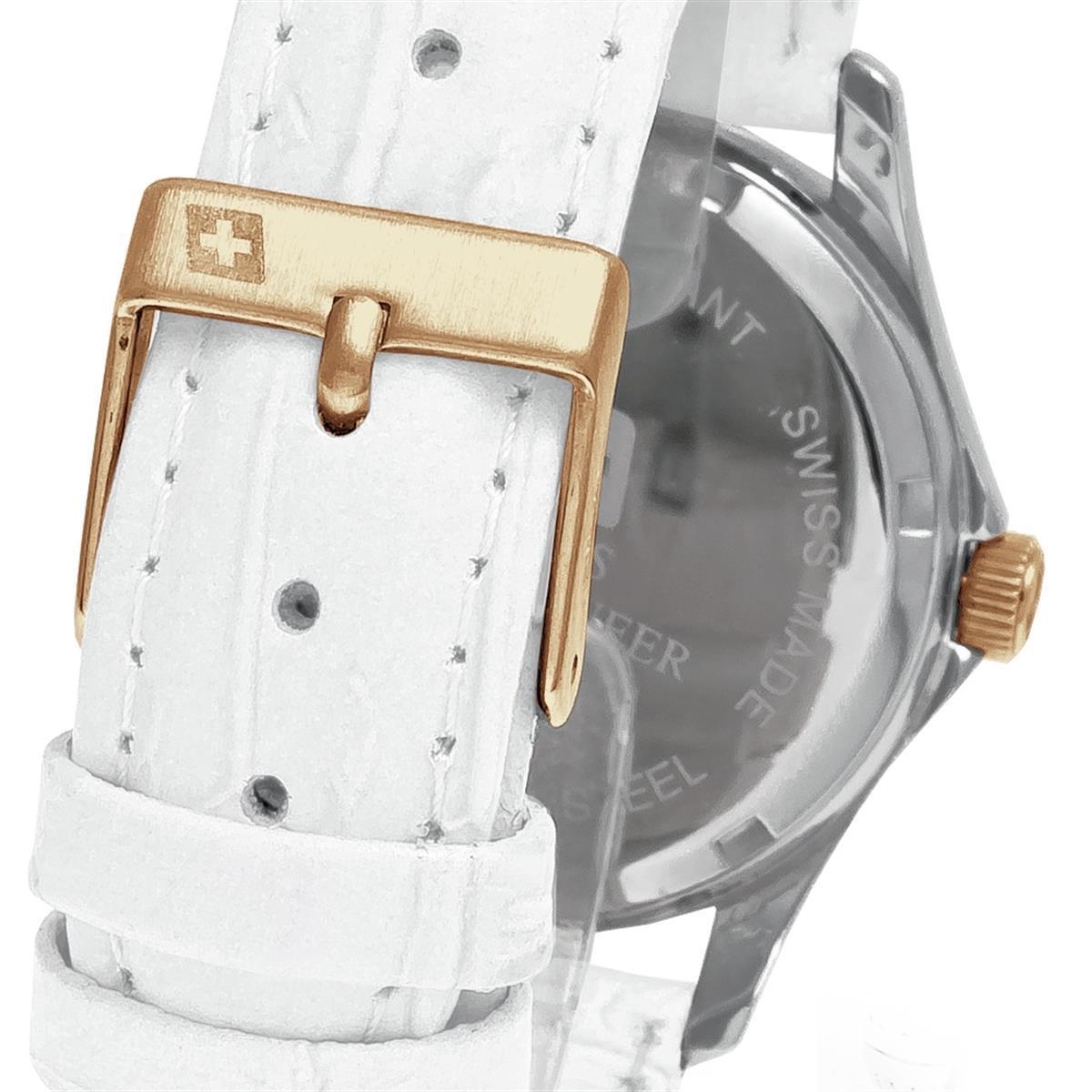 c93996a4f60 Relógio Feminino Swiss Mountaineer Classic Analógico SML8050 Couro