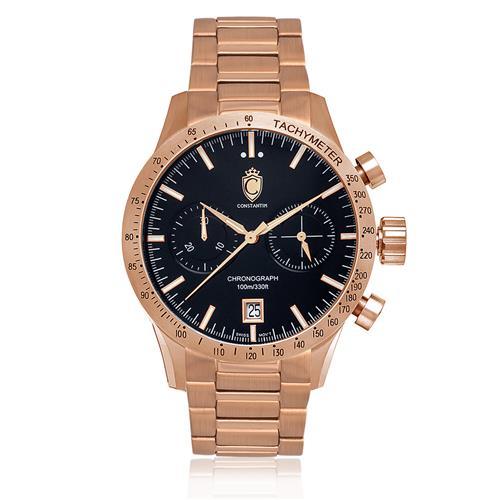 641847edfe7 Relógio Masculino Constantim Diplomat First Class Classic Rose Analógico  ZW30072P Aço Rose