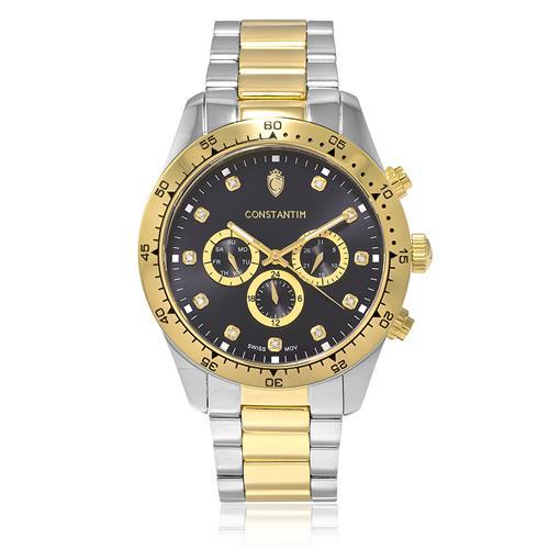 4f1dae59606 Relógio Constantim Daytona Mixed Gold Black 6311G-C-MGP Aço Misto