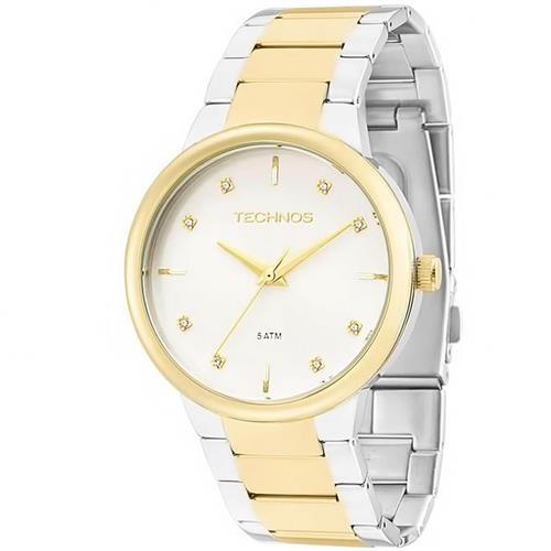 305b91f990713 Relógio Feminino Technos Elegance Ladies Analógico 2035LXZ 5K Aço misto