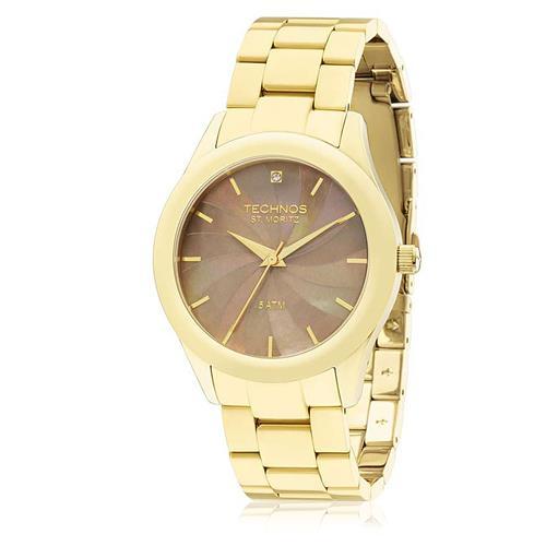 Relógio Feminino Technos Elegance St. Moritz Analógico 2036LNH 4C Dourado 2f7dfa9737