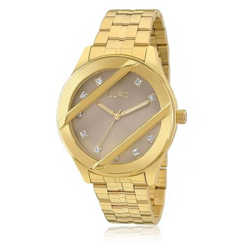 Relógio Feminino Euro Analógico EU2039JB/4C Dourado