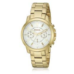 6f291ec537b3f6 Relógio Feminino Fossil Analógico ES3204/5BN Aço Dourado