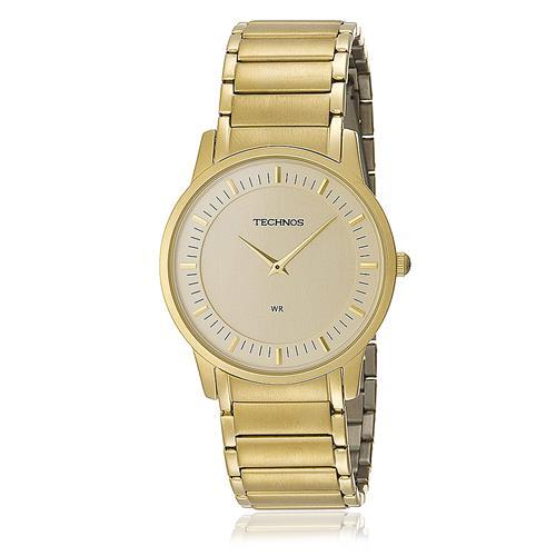 f16458f9c7f1b Relógio Masculino Technos Classic Slim Analógico GL20AQ 4X Dourado