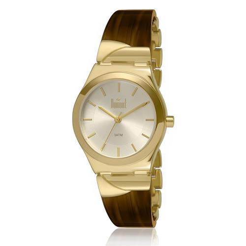 Relógio Feminino Dumont Analógico DU2035LRZ 8M Dourado com Acetato Marrom 45588cea04