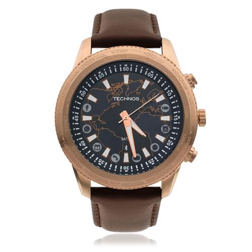 Relógio Masculino Technos Connect Analógico 753AD 2A Marrom 4c47c7dd6c